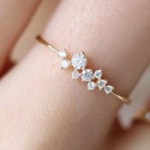 Gold Tonned Cubic Zirconia Hypoallergenic Ring